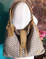 New Guess Tan Taupe G Logo Fabric Medium Handbag Satchel Purse