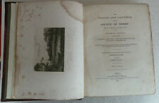 Vintage Book 1833 History Gazetteer Derby Stephen Glover Derbyshire Family Local