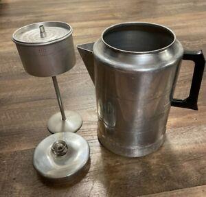 Vintage Comet Glass Knob 20 Cup Aluminum Percolator Coffee Maker Pot  Camping
