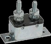 CIRCUIT BREAKER AUTO RESET 50AMP METAL BODY, STEEL CONSTRUCTION H/DUTY