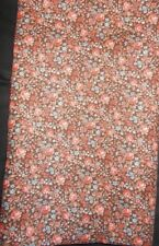Brown Floral Cotton Sewing Material 2 Yds + 25 Inches very cute #10