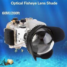 [Mcoplus] 60m/200ft 67mm Fisheye Wide-Angle Lens Underwater Diving Waterproof