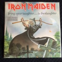 IRON MAIDEN - BRING YOUR DAUGHTER EMI 7-Inch EM 171 vinyl autographed etched