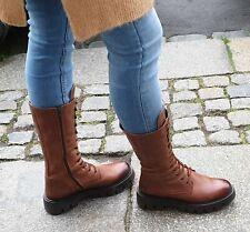 FELMINI Schuh Braun C019 Uraco Santiago Damen Echtleder Stiefel Reißverschluss