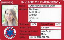 MedicSOS / Medic SOS ICE Card (Medical Alert / Emergency Information )