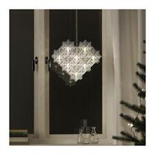 Ikea Strala LED pendant snowflakes hanging light decoration 33cm NEW 003.714.49