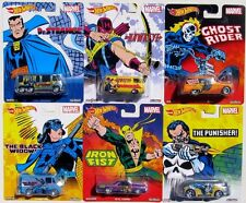 HOT WHEELS NOSTALGIA MARVEL SET OF 6 GHOST RIDER HAWKEYE IRON FIST Dr STRANGE