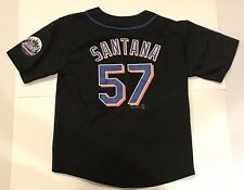 Majestic New York Mets Johan Santana Jersey Throwback Retro Kids Youth Sz 10/12