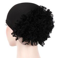 Women Flower Lace Muslim Cancer Chemo Hat Cover Hair Loss Head Scarf Turban Cap