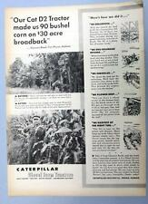 Original 1953 Caterpillar D4 Photo Endorsed Ad Clarence Brudi Fort Wayne Indiana