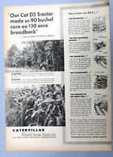 Original 1953 Caterpillar D4 Photo Endorsed Ad Clarence Brudi Fort Wayne Indiana
