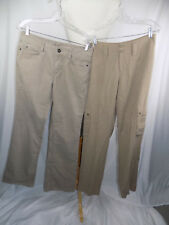 Lot of 2 Women's Sz 6 Tall Slacks Pants Eddie Bauer Classic & Beige Soft 30 x 33