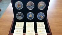 Canada 2016 Big Coins Series 5 Oz Color Silver Proof 6 Coin Set With Wood Case