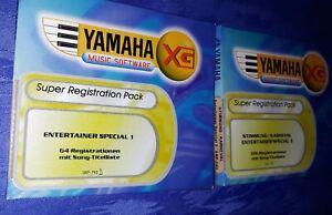 Yamaha PSR 640/740 Entertainer 1+ 3 Software- 170 Registrationen mit Titelliste!