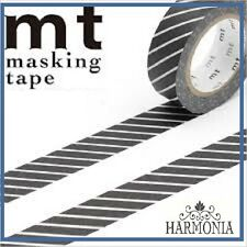 mt Masking Tape  Japanese High Quality Washi Tape 15mmx10m  STRIPE BLACK