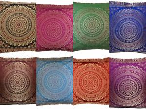 """Wholesale Sofa Decor Mandala Silk Cushion Cover 16"""" Square Ehtnic Pillow Case"""