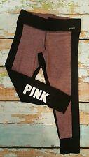 Victorias Secret PINK Legging Ultimate YOGA Pant Black Mauve Cuffed Ankle M