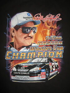 """Chase DALE EARNHARDT """"7-TIME NASCAR Winston Cup Champion"""" (MED) T-Shirt"""