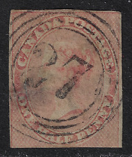 Province of Canada Stamps -1852-1857 Issues -Queen Victoria (1/2d rose) #8