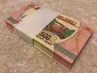 Madagascar Banknote Bundle. 100 X 500 Ariary. Uncirculated. 2017 Series.