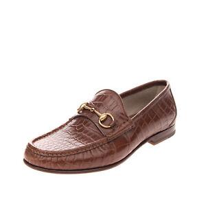 RRP €3160 GUCCI Crocodile Skin Loafer Shoes EU43 UK9 US10 Horsebit Made in Italy
