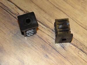 2 Stück 30 x 30 mm Gewindestopfen Lamellenstopfen Vierkantrohr Stellfuß Möbelfuß