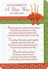 Christmas Card Graveside Memorial Tribute Remembrance Card-A Dear Nan (29)