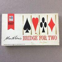 Vintage 1964 Bridge For Two Card Board Game - Milton Bradley