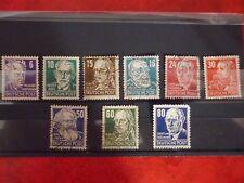 1948 German stamps Politicians ,Artists & Scientists Set of 9