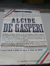 MANIFESTO POLITICO ALCIDE DE GASPERI FUNERALE SOLENNE DEMOCRAZIA CRISTIANA D.C.