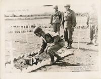 WWII 1945 Okinawa GI Remembering his Comrade US Army Photo