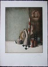 WOLFGANG ZELMER, Farb-Radierung 1981, signiert + numm. 89/100, Portrait