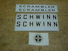 Schwinn Approved Scrambler Bicycle Frame Decal Set Bmx Musclebike &