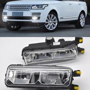 2x White LED Cree Daytime Day Fog Light DRL For Land Range Rover L405 2013-2017
