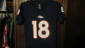NFL Denver Broncos PEYTON MANNING #18 Youth Football Jersey / shirt Large 14-16