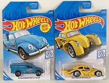 49 Volkswagen Beetle Pickup Truck & VW Kafer Racer Yellow Mooneyes Hot Wheels