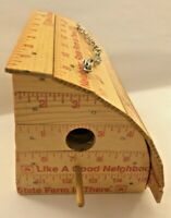 Fun Quirky Bird House Made Of state farm Yard Sticks Insurance advertising