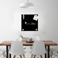 Magnettafel schwarz 45x45cm Whiteboard Glasboard Board Magnetwand Schreibtafel