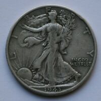 1943 S Walking Liberty Half Dollar Very Good Condition 90% Silver US Coin C-1