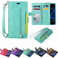 For Samsung S8/S9/S10/S20/Note20 Flip Leather Phone Case Cover Card Wallet Stand