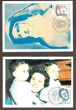 Vatican City Sc# 1009-10: EUROPA 1996: Famous Women, 2 Maxi Cards