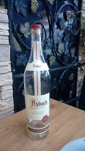 Asbach Uralt Flasche 3 Liter leer mit Korken, schöne Deko-Flasche