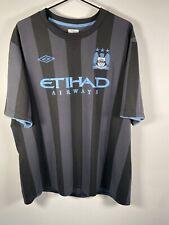 Manchester City 2012/2013 Third Shirt Champions League Size 48 UK XXL VGC