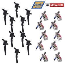 10 B029 Herko Coils & 10 Motorcraft SP493 Spark Plugs