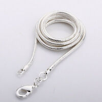 Sterling Silver Necklace Italian Nickel-Free Snake Chain Pure 925 New Wholesale