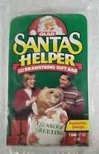 Draw String Gift Bag Glad Santa's Helper Extra Large Poinsettia Design]