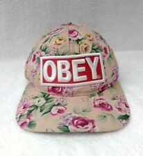 Obey Propaganda Floral Hat Cap One Size Adjustable