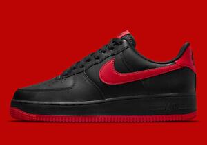 Nike Air Force 1 '07 Shoes Black University Red DC2911-001 Men's Multi Size NEW