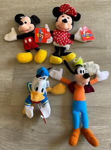 Applause Mickey for Kids Plush Disney Lot of 4 Toys Minnie Goofy Donald Beanz