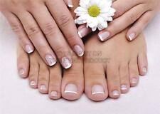 Foto Salón De Belleza Spa Nails French Manicure Pedicure impresión arte cartel gz5722